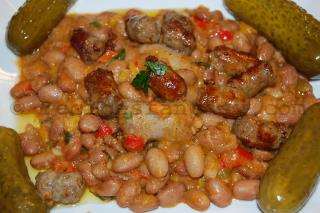 Beans with sausages traditional romanian dish recipesfantasy on december 1st its served beans with sausages a traditional romanian food so every romanian woman has to know how to cook it forumfinder Image collections